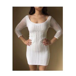 Bebe white body on dress m/l